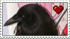 Raven Love Stamp by Nukeleer