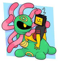 tentacle friend by Nukeleer