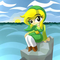 Art Trade - Toon Link TG by Frost-Lock
