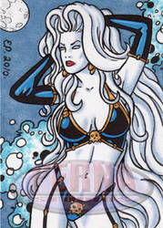 Lady Death Sketch Card 2 by ElainePerna