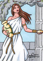 Pandora Sketch Card - Classic Mythology by ElainePerna