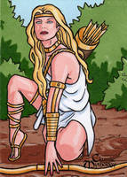 Artemis Sketch Card - Classic Mythology by ElainePerna