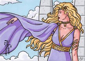 Aphrodite Sketch Card - Classic Mythology by ElainePerna