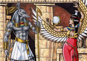 Set + Nephthys - Classic Mythology by ElainePerna