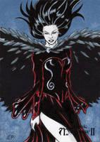 Morrigan Sketch Card - Classic Mythology II by ElainePerna