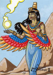 Isis Sketch Card - Classic Mythology II by ElainePerna