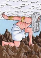 Atlas Sketch Card - Classic Mythology II by ElainePerna