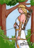 Artemis Sketch Card - Classic Mythology II by ElainePerna
