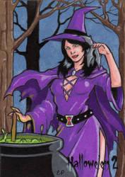 Hallowe'en 2 - Sketch Card 1 by ElainePerna