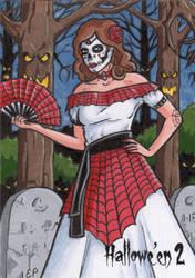 Hallowe'en 2 - Sketch Card 4 by ElainePerna