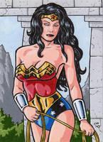 Wonder Woman Sketch Card 3 by ElainePerna