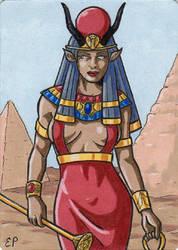 Hathor - Classic Mythology III by ElainePerna