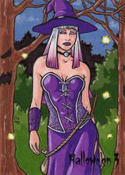 Hallowe'en 3 - Sketch Card 1 by ElainePerna