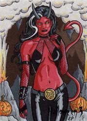 Hallowe'en 3 - Sketch Card 6 by ElainePerna