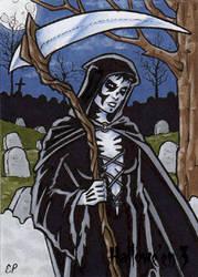 Hallowe'en 3 - Sketch Card 8 by ElainePerna