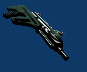AUG A3 Assault Rifle render by artsy-geek