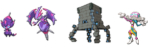Ultra Beasts (Ultra SunMoon) by leparagon
