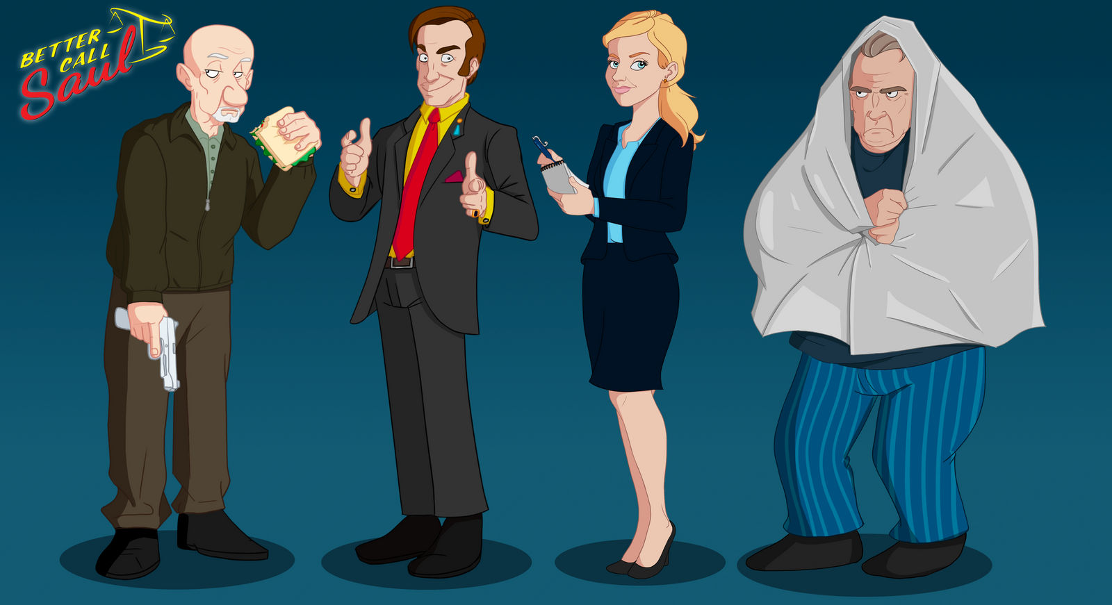 Better Call Saul Cast by Flachzange