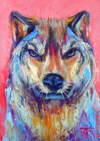Aceo-Wolf by JACK-NO-WAR