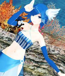 Mystical Water Dragon by SapphireRose-chan
