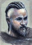 Travis Fimmel as Ragnar Lothbrok on Vikings Sketch by Gothscifigirl