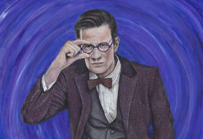 Doctor Who Eleven Matt Smith Acrylic Painting by Gothscifigirl