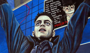 Mr Robot Elliot Acrylic Painting by Gothscifigirl