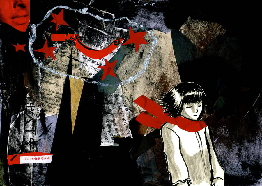 characters in red scarf girl