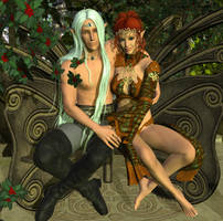 Oberon and Titania by DiannaSilver