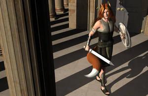 Alopexoi Warrior by DiannaSilver