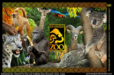 LA Zoo 32oz Souvenir Cups by YourNewGod