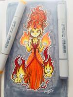 Flame Princess Copic Markers by joceysketchz