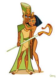 Pharaoh and pharaohnette by ClemCyza