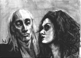 Riff-Raff and Magenta by gothichyppie