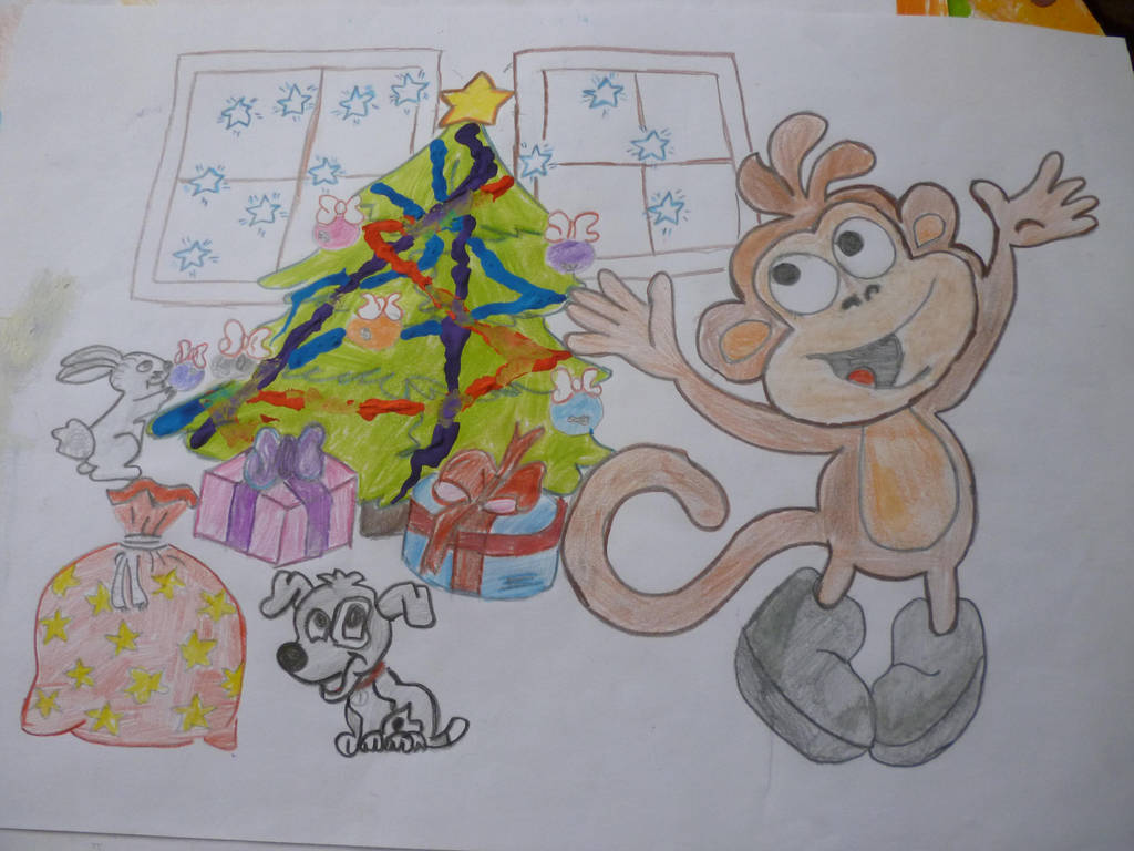 Christmas drawing by BeLightning