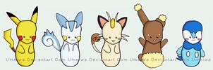PKMN Stickers by Umeiwa