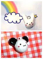 Bunny and Panda Charms by Umeiwa