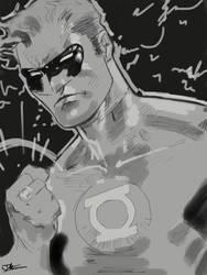 Green Lantern iPad by JimOfRapture