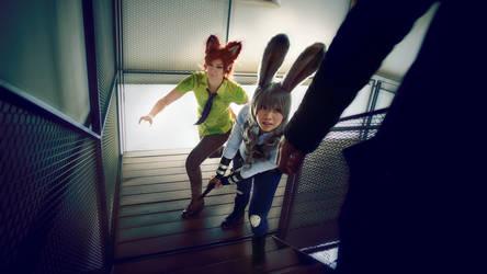 Zootopia . Judy and Nick I by kazenary
