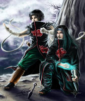Neji and Rock lee Akatsuki by HectorHerrera