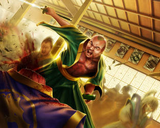 L5R - Combat at court - Hector Herrera by HectorHerrera