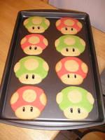 Mario Mushroom Cookie by AnimeGeer
