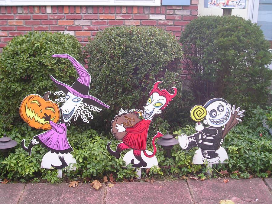 Nightmare Before Christmas Halloween Yard Decor By Animegeer On