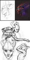 Sketch - Little demon - 02-06-14 by ZiokoH