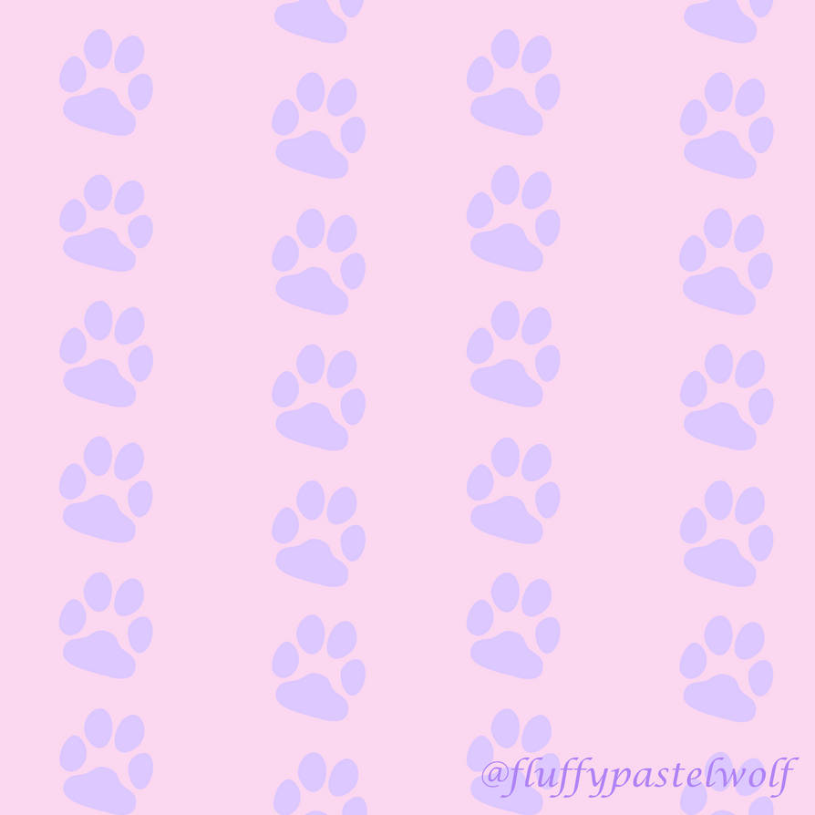 Paw Print Pattern by fluffypastelwolf