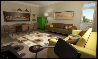 Interior Design - Living Room by Serdarakman