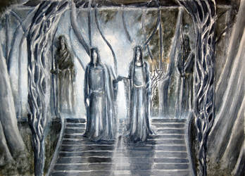 Galadriel and lord Celeborn by Artofjuhani