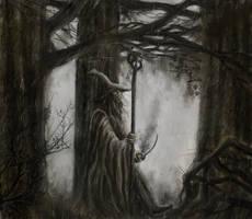 Gandalf in the fog by Artofjuhani