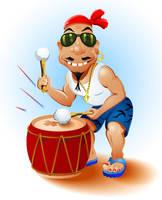 Happy Drummer by lazunov