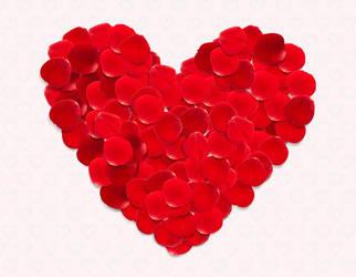 Vector Rose Petals by lazunov